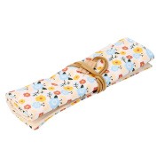 Vintage Floral Print School Student Pencil Case Canvas Storage Bag Washable Iterms Organiser by PSFS