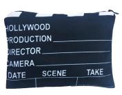 Hollywood Movie Super Star Scene Clapper Cut Design Printed Cosmetic Travel Bag