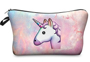 Unicorn Emoji Pink Space Design Cosmetic Travel Bag Perfect fro All Kids, Teens, & Adults! 23cm . x 13cm .