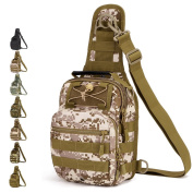 Outdoor Military Chest Bag Tactical Shoulder Bag Sling Chest Backpack for Camping Hiking