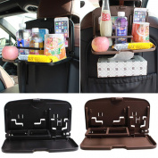 Dr Nezix Brown Car Eating Wheel Desk Car Backseat Organiser Travel Activity Tray Table Packed One