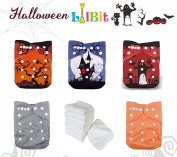 LilBit Halloween Prints Reusable One Size Baby Cloth Nappies