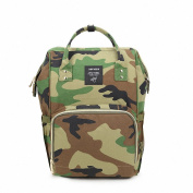 CutePaw Multi-Function Nappy Bag Waterproof Roomy Camouflage Baby Bags Travel Nappy Backpack Nursing Shoulder Bag for Baby Care