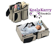 Koala Karry Tote & Go Baby Nappy Bag and Portable Bassinet (3-in-1) Padded Changing Station & Travel Sleep Crib | Bottle, Toy, Wipes Storage Pockets | Infants, Newborns, Toddlers