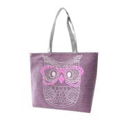 Aurorax Women Owl Shopping Handbag Shoulder Canvas Bag Tote Purse