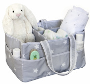 Large Nappy Caddy Organiser, Fits All Nappy Sizes, Nursery Storage Bin, Nursery Nappy and Wipes Organiser