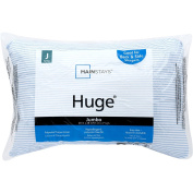 Mainstays HUGE Pillow Jumbo 50cm x 70cm in Blue and White Stripe Machine Washable Hypoallergenic