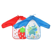 DierCosy Kids Painting Aprons Waterproof Art Smock with Long Sleeves for Toddler