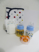 Baby Alive Snackin Luke Boy Custom Basketball Set with 60ml Preemie Sports Bottles with Fake MILK + JUICE + FOOTBALL Pacifier + Preemie Nappy + Assorted Burp Cloth Our Choice - NO DOLL - 8 Yrs+