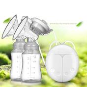 Electric Breast Pump,VOFO Dual Breast Pump Automatic Massage Postpartum Prolactin,Mute Bilateral Frequency Conversion USB Charging BPA-Free & 100% Food Grade Double Breast Pumps, Massage & Prolactin