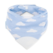 Booginhead Teether Bib, Blue Clouds