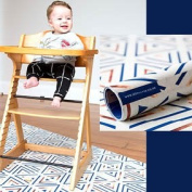 Mess Mats - Navy & Copper, splash mat,, Baby, Feeding, Solid feeding, High Chair, Durable,Designer, Reversible, High Chair Floor Protector, Waterproof, Baby shower gifts, Top-rated