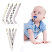 Vovomay Baby Pacifier Holder Clips Chain Belt Teether Soother Leashes 4pcs