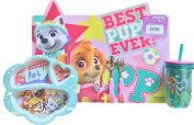 Paw Patrol Pups Girls Mealtime Kit Placemat, Sectioned Plated, Utensils & Tumblr
