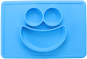 Baby Silicone Placement - Bowl, Tray and Placemat - 3 Compartments plate for Kids, Babies, and Toddlers - by Utopia Home