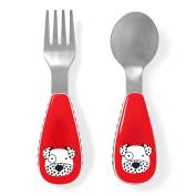 Skip Hop Zootensils Fork & Spoon, Dalmatian, Multi