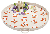 3 Sprouts Play Mat Bag, Orange Fox