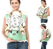 Front Back Baby Carrier with Hipseat - 6 Position 360° Ergonomic All Seasons Child Sling for Newborn,Infant & Toddler