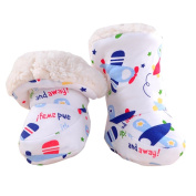 Lotus.flower Cute Baby Winter Soft Sole Crib Warm Flats Cotton Boot Toddler Prewalker Socks