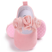 AutumnFall Newborn Baby Girls' Premium Soft Sole Infant Prewalker Toddler Crib Shoes