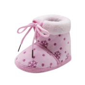 Baby Soft Snow Print Boots, WeiYunTiny Cotton Crib Shoes Prewalker Warm Shoes Cute Toddler Boots