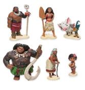 6pcs/lot Moana princess action figure toy set
