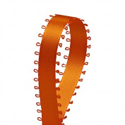 Orange Satin Ribbon Feather Edge 0.5cm 50 Yards