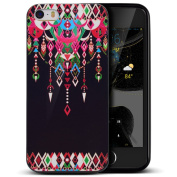 iPhone 5S Case,iPhone SE Case,iPhone 5 Case,ikasus Colourful Art Painted Ultra Slim Black Flexible Soft Silicone TPU Rubber Bumper Case,Soft Floral Silicone Case for iPhone 5S 5 SE,Tribal Totem Pendant