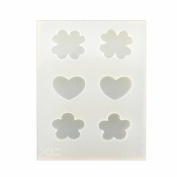 Clover,heart,Flowers Earrings Silicone Mould, Clay Crafting, Resin Epoxy, Jewellery Pendant Making, DIY Mobile Phone Decoration Tools,Semi-Transparent
