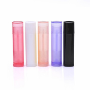 GOOTRADES Multicolor 25 Pack Empty Lip Balm Container Tubes, 5.5ml (3/16 oz.),BPA Free Plastic