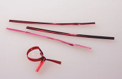 10cm x 0.4cm Red Metallic Plastic Twist Tie (1000 pack) [TT4MRA]