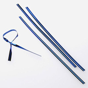 10cm x 0.4cm Blue Metallic Plastic Twist Tie (1000 pack) [TT4MBA]