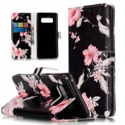 Galaxy Note 8 Case, S8 Case, Ranyi [Marble Design Wallet] [Card Holder / Card Slot] [Kickstand Feature] Luxury Flip Folio Leather Wallet Case for Samsung Galaxy Note 8 (2017 release), azalea