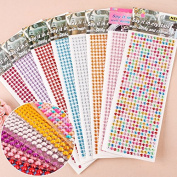MEIQING Self-adhesive Rhinestone Sticker Bling Craft Jewels Crystal Gem Stickers Crystal Nails Art Designs Cellphone Sticker DIY Craft Jewels Sticker, Assorted Size 9 sheets