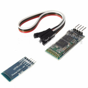 TOOGOO(R) Blue 4 Pin HC-06 RS232 Wireless Bluetooth RF 5V Transceiver Module +Cable for Arduino