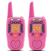 Eoncore Walkie Talkies for Kids Two Ways Radio Toy 1 Mile Range 3 Channels 10 call tone Build-in Flashlight Pink