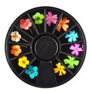 Elaco Diamonds Dazzling Tips Nail Sticker Sequins Colourful Nail Art Decoration
