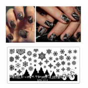 Elaco 612cm Nail Art Stamping Plates Geometric Sports Nails Template