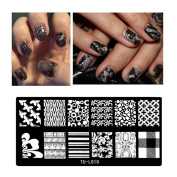 3D Nail Art Stickers Decals Plates Metallic Flowers Designs Stickers For Nails Art Decoration Tips Accessory Tool