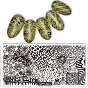 Elaco Pattern DIY Nail Art Image Stamp Stamping Plates Manicure Template