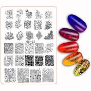 DIY Nail Decor,Elaco Pattern Art Image Stamp Stamping Plates Manicure Template