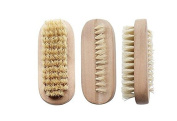 Wood Nail Brush Natural Bristle SPA Dual Surface Brush