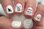 Dog Breed Chihuahua Love C101 Nail Art Decals