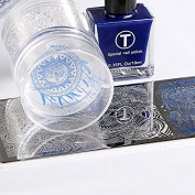 2Floor Transparent Stamper Nail Art Clear Jelly 4cm Stamper Polish Transfer Print Stamping Tools Nail Stamper with Cap Set