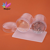 New Transparent 3.8cm Nail Art Stamper Professional Marshmallow Round Nail Art Stamper