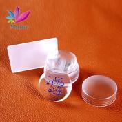 New Transparent 3.5cm Nail Art Stamper Professional Marshmallow Round Nail Art Stamper