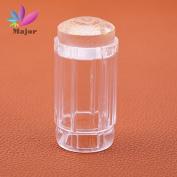 Jelly stamper Pure Transparent Transparent Head Nail Stamp Scraper Stamper Transfer Stamping Plate Polish Stencils
