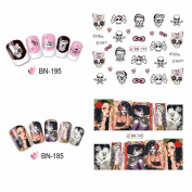 KaiCran Halloween Nail Art Sticker Watermark Tattoos Nail Art Tips