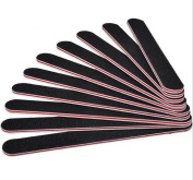 Double Sided Professional 10 Pcs Black Nail Files Emery Boards Buffers Sanding File Block Stick Nail Manicure Care Tools