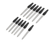 Antrader Plastic Handle Metal Double Sided Nail Sanding Tool Polishing File Pack of 12